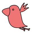 color nice bird fauna animal vector image vector image