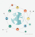Concept for social network Concepts for web vector image vector image