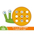 counting game for children educational vector image vector image