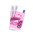 couple of simple five hundred euro banknotes on vector image vector image