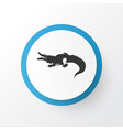 crocodile icon symbol premium quality isolated vector image