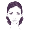 face girl vector image vector image