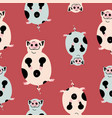 fat cute pig seamless pattern vector image