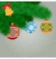 Fir Branches And Balls vector image vector image