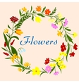 floral wreath for seasonal design vector image vector image
