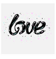 freehand letters love text doodles vector image vector image