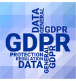general data protection regulation gdpr concept vector image