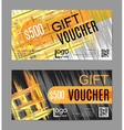 gift voucher card template vector image