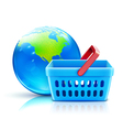 global shopping vector image vector image