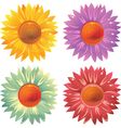 GLossy flowers vector image vector image