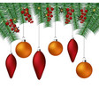 happy christmas decoration vector image