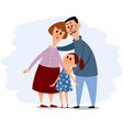 happy small family vector image vector image