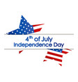 independence day 4th july festive banner with vector image vector image