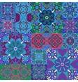 Islamic damask backgrounds colorful set beautiful vector image vector image