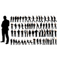 isolated a set men a collection silhouettes vector image vector image
