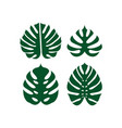 monstera leaf icon design template isolated vector image