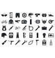 mountain bike tool icons set simple style vector image