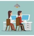 office teamwork people icon vector image vector image