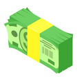 pack of money icon isometric style vector image