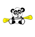 panda row vector image vector image