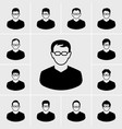 people and man icons set vector image vector image