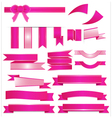 Pink ribbons setisolated on white background vector image vector image