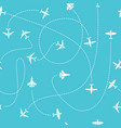 plane travel seamless pattern world travelling vector image vector image