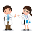 Profession costume of doctor for kids vector image vector image