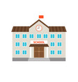 School flat building icon vector image