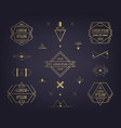 set abstract geometric logos mystical vector image vector image