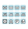 Set of instruction laundry icons care icons wash vector image vector image