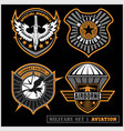 set of military and army badge and patches vector image vector image