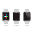 Set of Smart Watches icons vector image vector image