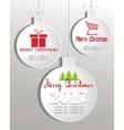 set of white Christmas balls vector image vector image