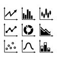 simple set diagram and graphs vector image vector image