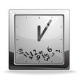 Square clock vector image