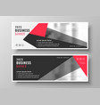 stylish red geometric business banner design vector image