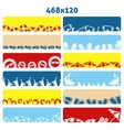 Summer flat web banners vector image vector image