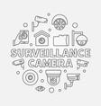 surveillance camera - cctv vector image vector image