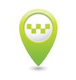 taxi icon green map pointer vector image vector image