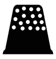 Thimble icon simple style vector image vector image