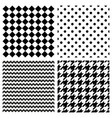 tile black and white pattern set vector image