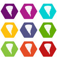 tornado icon set color hexahedron vector image vector image
