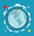 travel around the earth vector image vector image