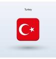 Turkey flag icon vector image