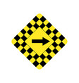 usa traffic road signsdanger sharp turn vector image