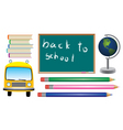 vector set of school symbols vector image vector image