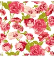 vintage seamless roses background vector image vector image