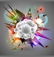 white bubbles in a group vector image vector image