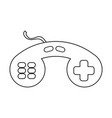 icon with the image of the game joystick a simple vector image